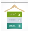 Coat hanger wood like text headers vector | Price: 1 Credit (USD $1)
