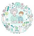 concept speech therapy logo school speech vector image