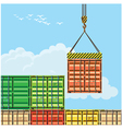 container handling vector image vector image