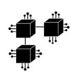 contour squares digital connections with circuits vector image vector image