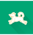 Cute cartoon dog drawing in doodle style Great vector image vector image