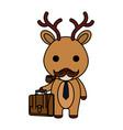 cute little reindeer character vector image