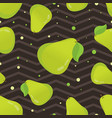 cute seamless pattern with pear vector image