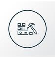 data mining icon line symbol premium quality vector image vector image