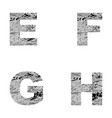 decorative letters e f g h vector image
