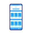 digital books smartphone interface template