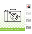 digital camera simple black line icon vector image