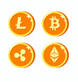 Digital currency collection flat icon illus
