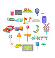 direction icons set cartoon style vector image vector image