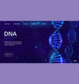 dna landing page genetics engineering web vector image vector image