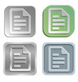 document buttons vector image