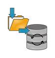 download data folder file database server storage vector image vector image