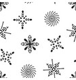 drawing ethnic snowflakes vector image