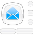 e-mail white button vector image vector image