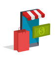 electronic commerce isometrics icons vector image