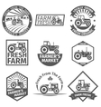 Farm labels with tractor vector image vector image