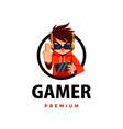 gamer thump up mascot character logo icon vector image vector image
