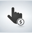 hand click simple icon currency exchange sign vector image vector image