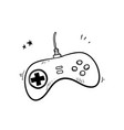 hand drawn classic game controller joystick doodle vector image vector image
