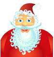 happy santa claus isolated on white background vector image
