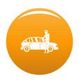 hijacker icon orange vector image vector image