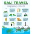Infographics Elements Bali Travel vector image