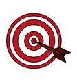 Isolated target toy design vector image vector image