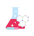laboratory test tube sample dropper molecule vector image