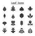 leaf tree icon set vector image