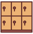 locker icon filled line style eps10 vector image