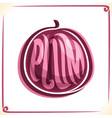 logo for plum vector image