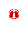 lung logo icon vector image