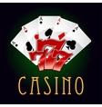 Luxury casino an gambling icon vector image vector image