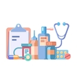 Medication and medical accessories vector image vector image
