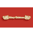 Merry Christmas holiday post card vector image vector image