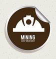 mining design vector image vector image