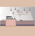modern cafe empty no people restaurant coffee shop vector image vector image