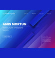 modern landing web page template vector image vector image