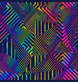 neon grunge triangle seamless texture vector image vector image