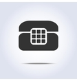 Phone retro icon in gray colors vector image vector image