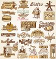 Retro vintage labels restaurant vector image vector image