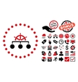 Rule Flat Icon with Bonus vector image vector image