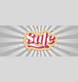 sale vintage text design over background vector image