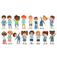 school children of different nationalities vector image