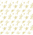seamless background with painted gold stars vector image