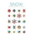 Set of Christmas snowflake icons vector image
