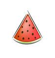 slice watermelon vector image vector image