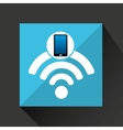 smartphone wifi social network media icon vector image vector image