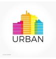 Sound equalizer symbol logo City urban sounds vector image