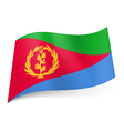 State flag of Eritrea vector image vector image